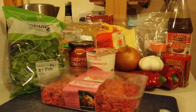 MeatChiladaGredients